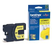 INKCART BROTHER LC-980 GEEL